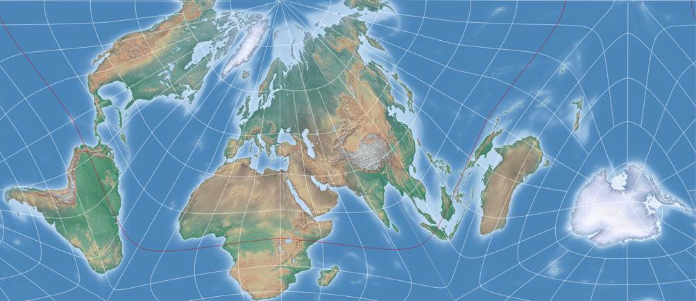 An equal area projection in the fashion of the authagraph map so indeed this is not unlike my previous example although if alaska gets cut here the decorative representation in the hexagon on the other hand has the gumiabroncs Image collections